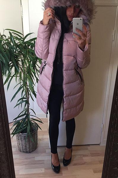 4fc8970c Cozy Vinterjakke - Rosa - Chicwear