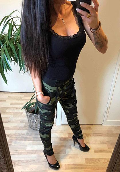 508c62d0 Ella Army Bukser - Armygreen - Chicwear