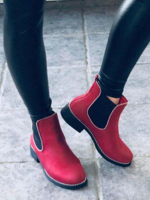 røde ankelstøvler