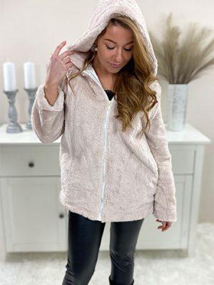 fake-fur-jakke-beige-chicwear.dk