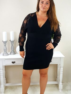 amelia kjole sort chicwear.dk.jpg