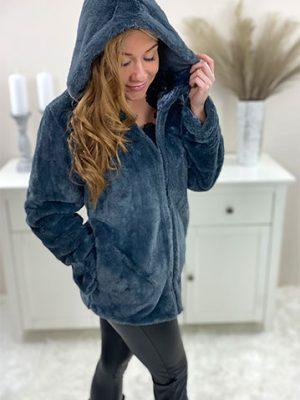 fake-fur-jakke-grå-chicwear.dk