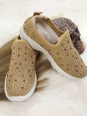 Slipon sneakers beige chicwear.dk.jpg