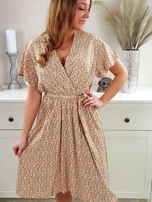 luna camel farvet kjole chicwear.dk.jpg