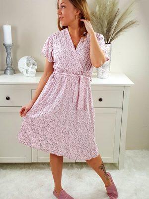 luna sommerkjole rosa chicwear.dk.jpg