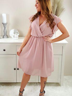malina chiffon kjole rosa chicwear.dk.jpg