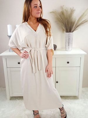 samara oversize kjole beige chicwear.dk.jpg