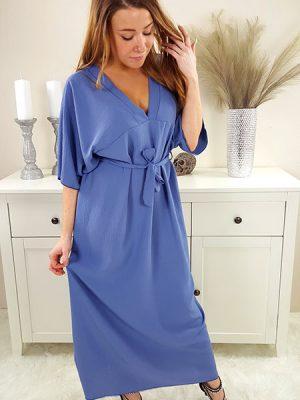 samara oversize kjole jeans blå chicwear.dk.jpg