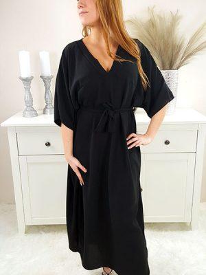 samara oversize kjole sort chicwear.dk.jpg