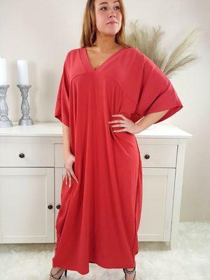 samara oversize kjole støvet rød chicwear.dk.jpg