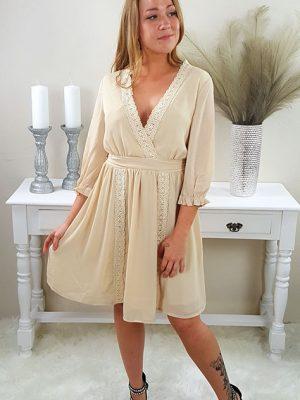 lilly boheme kjole beige chicwear.dk.jpg