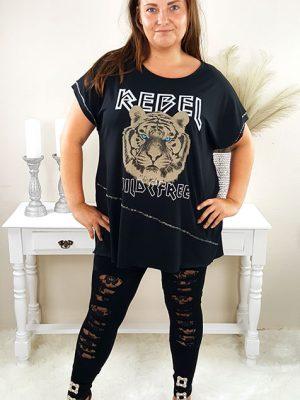 plussize tiger tshirt sort chicwear.dk.jpg