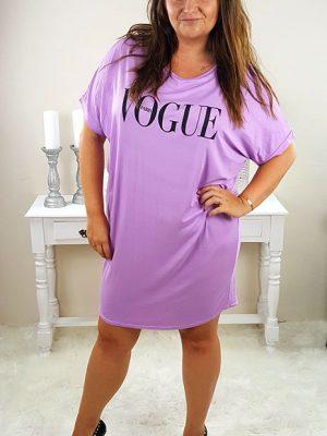 vogue tshirt kjoler lilla chicwear.dk.jpg